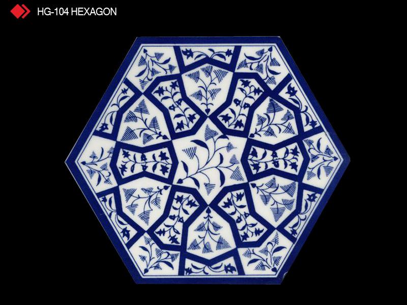 HG-104 Hexagon çini seramik