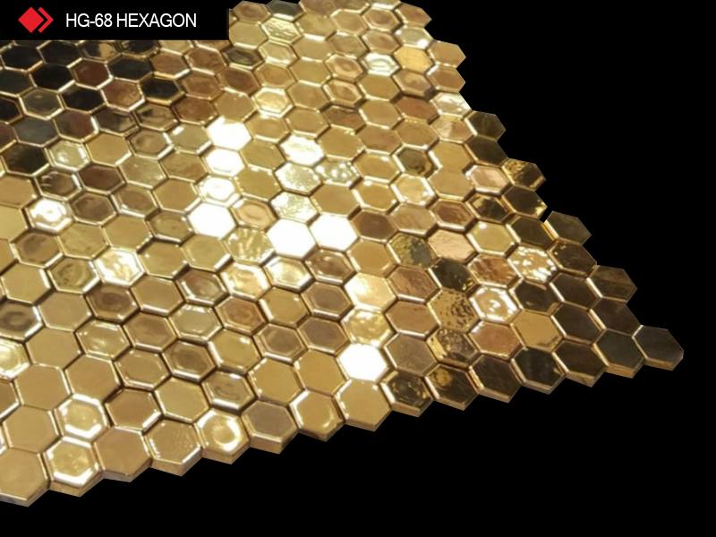 HG-68 Hexagon 3d gold tile