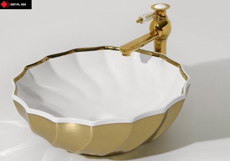 Altın Beyaz Porselen lavabo