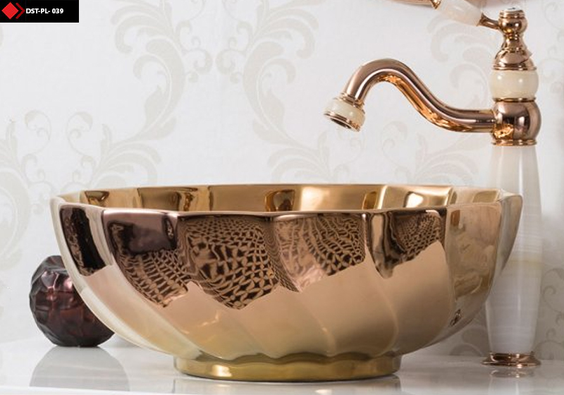 Bakır renkli lavabo modelleri