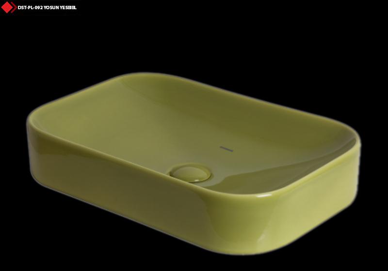 Dikdörtgen lavabo modelleri yesil