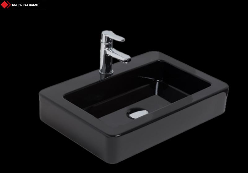 Mat siyah lavabo modeli