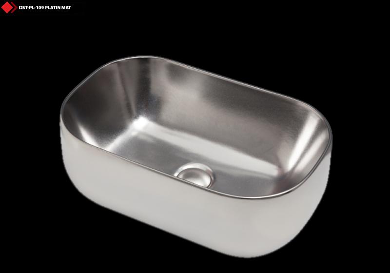 Platin mat renkli ithal lavabo