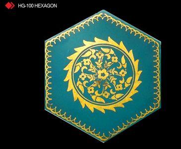 HG-100 Hexagon çini seramik