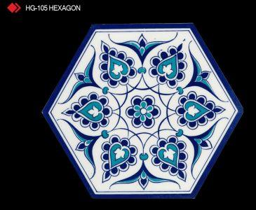 HG-105 Hexagon çini seramik