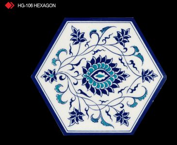 HG-106 Hexagon çini seramik