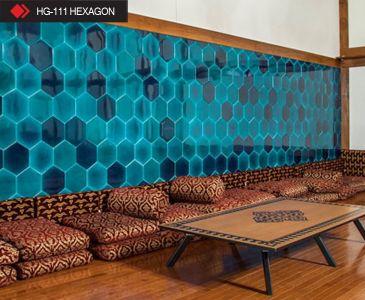 HG-111 Hexagon turkuaz seramik