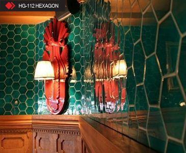HG-112 Hexagon yeşil seramik