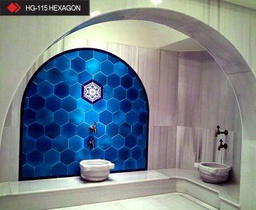 HG-115 Hexagon rölyefli seramik