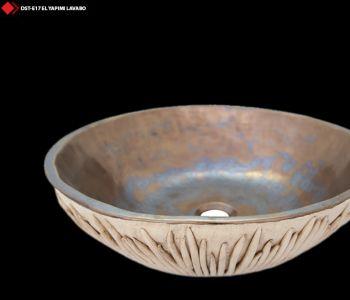 Metalik renkli porselen lavabo