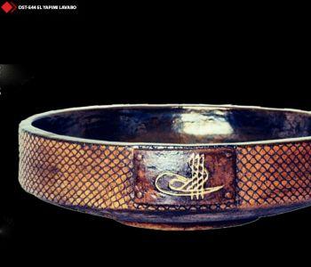 Osmanlı turalı porselen lavabo