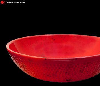 Kırmızı renkli çanak lavabo modelleri