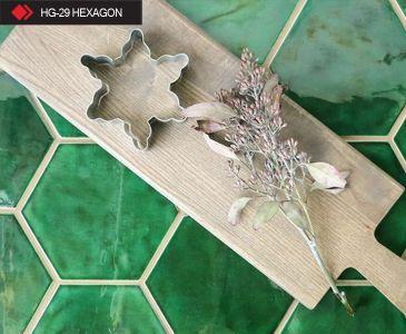 HG-29 Hexagon yeşil karo
