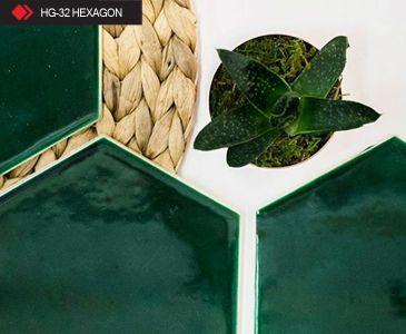 HG-32 Hexagon yeşil karo