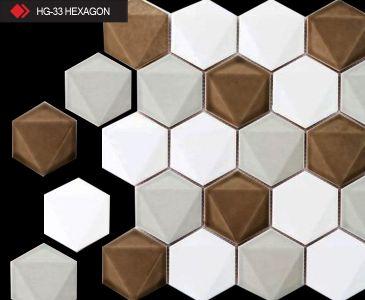 HG-33 Hexagon desenli 3d karo