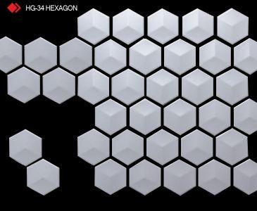 HG-34 Hexagon rölyefli 3d karo