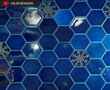 HG-35 Hexagon rölyefli 3d karo