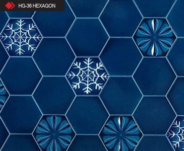 HG-36 Hexagon rölyefli 3d karo