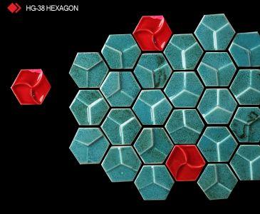 HG-38 Hexagon sırlı 3d karo