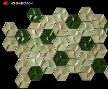 HG-39 Hexagon sırlı 3d karo