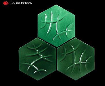 HG-40 Hexagon sırlı 3d karo
