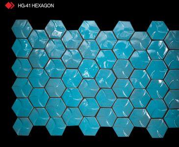HG-41 Hexagon sırlı 3d karo