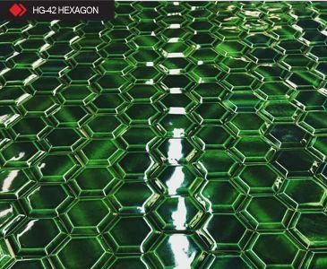 HG-42 Hexagon sırlı 3d karo