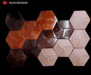 HG-43 Hexagon desenli 3d karo