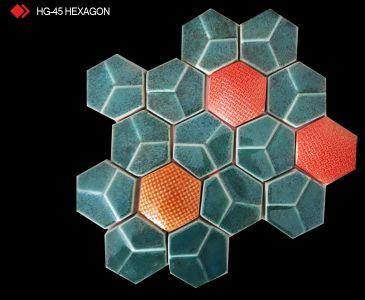 HG-45 Hexagon desenli 3d karo