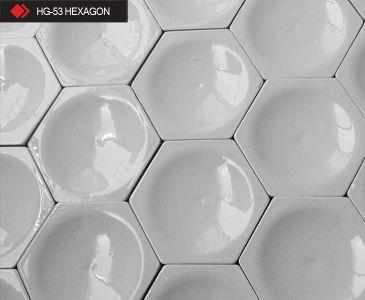 HG-53 Hexagon beyaz 3d karo
