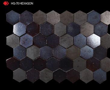 HG-70 Hexagon 3d marble tile