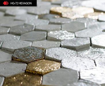 HG-72 Hexagon metalic tile