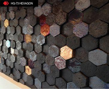 HG-73 Hexagon metalic tile