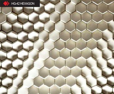 HG-74 Hexagon white tile