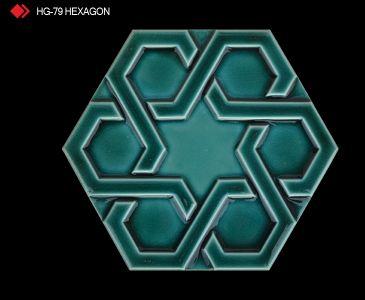 HG-79 Hexagon röylyefli sırlı karo