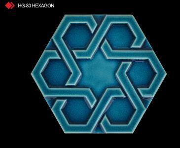 HG-80 Hexagon röylyefli mavikaro