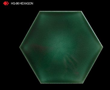 HG-96 Hexagon sırlı yeşil karo