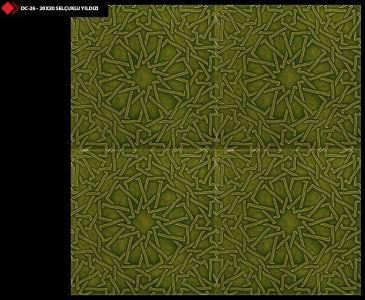 20x20 Selçuklu yıldızı açık yeşil