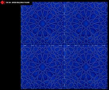 20x20 Selçuklu yıldızı kobalt