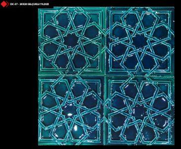 Rölyefli selçuklu yıldızı desenleri