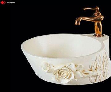 Porselen lavabo Desenli lavabo