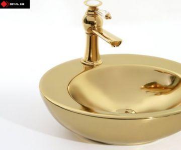 Gold desenli canak lavabo