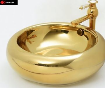 Gold Rengi Porselen Lavabo