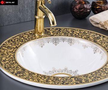 Çini işlemeli Porselen Lavabo