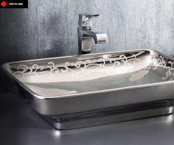 Desenli platin lavabo