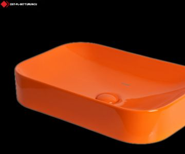Dikdörtgen lavabo turuncu