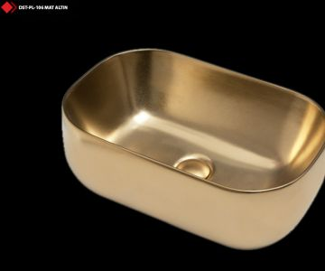 Altın rengi lavabo