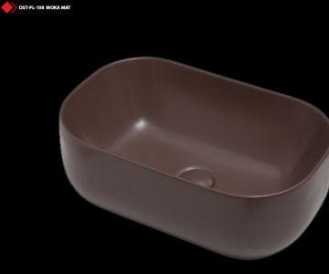 ithal moka renkli mat lavabo