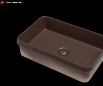 Moka mat renli tasarım lavabo