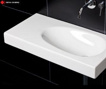 Etejerli lavabo beyaz modeli